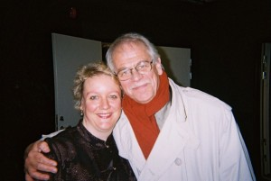 Issie Barratt and Göran Levin (Manager of Bohuslän Big Band)