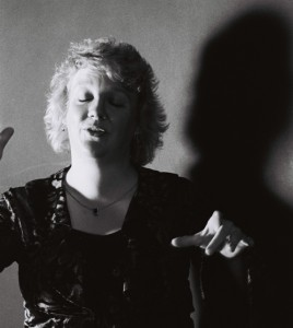 Issie Barratt conducting